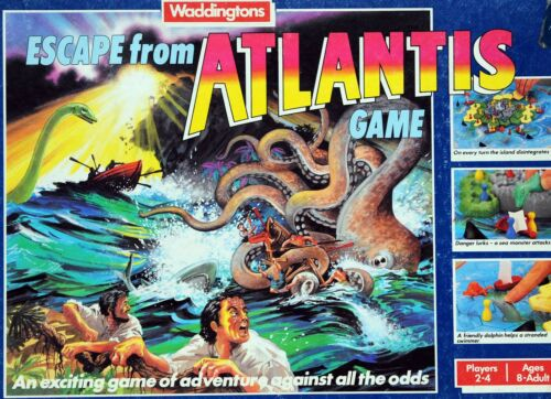 VINTAGE WADDINGTONS ESCAPE FROM ATLANTIS BOARD GAME SPARE YELLOW PAWN SPARES