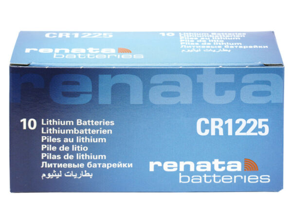 10 X Renata Cr1225 Pila Bottone Batteria 3v Replace Cr Br Dl Ecr Kcr Lm Ml 1225