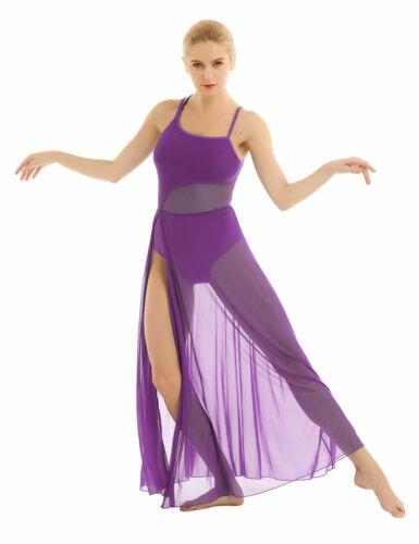 Lyrical Women/'s Asymmetric Chiffon Ballet Dance Dress Performance High-Low Skirt