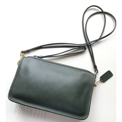 Vintage Coach Forest Green Leather Basic Bag - Sty