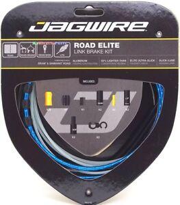 Jagwire-Road-Elite-Link-Ultra-Slick-Brake-Cable-Kit-Blue-Free-BC-R680-Cap-x2