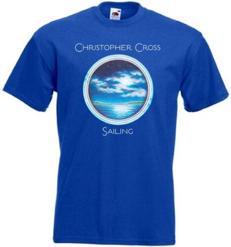 Christopher Cross Sailing v15 T Shirt Noir Bleu Vert Toutes Tailles S-5XL