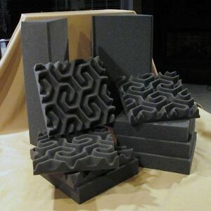 Acoustic Foam SoundTrax & CornerBlox KIT#212- 12 1'x1' SoundTrax & 2 -CornerBlox