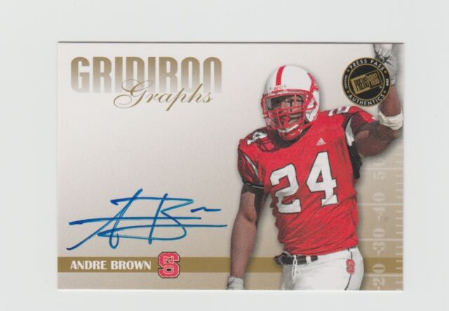 Andre Brown 2009 Press Pass Gridiron Graphs Gold Auto #GG-AB