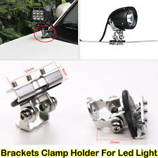 Universal 2x A Pillar Hood Led Work Light bar Mount Bracket Clamp Holder Offroad