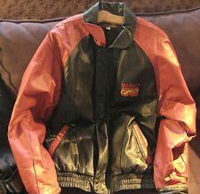 Marvel Comics SPIDER-MAN Red Leather Sleeve CAR/CLUB COAT - DEALER PROMOTION '90