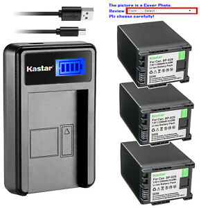 Kastar-Decoded-Battery-LCD-Charger-for-Canon-BP-828-BP828-amp-Canon-XA30-Camcorder