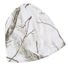 "White Snow Camo Beanie Knit Skull Cap 8"" inch Realtree"