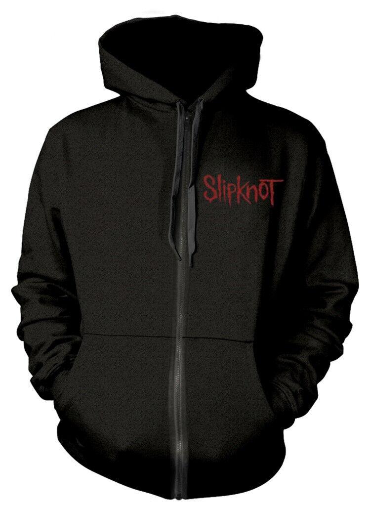Slipknot 'Skull Teeth' (Black) Zip Up Hoodie - NEW & OFFICIAL!