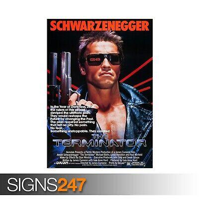 MOVIE POSTER Poster A0 A1 A2 A3 ZZ084 THE TERMINATOR ARNOLD SCHWARZENEGGER