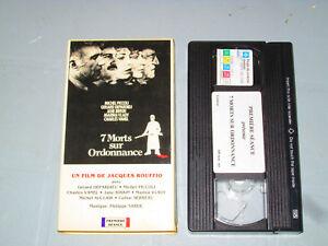 7-Morts-Sur-Ordonnance-VHS-French-Gerard-Depardieu-Michel-Piccoli-Teste
