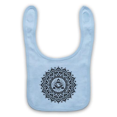 Mandala géométrique spirituel symbole Géométrie religieux Bavoir Bébé Douche Cadeau