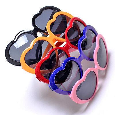 Popular Cute Color Glasses Girl Love Heart Shape Unique Sunglasses Stylish #8529