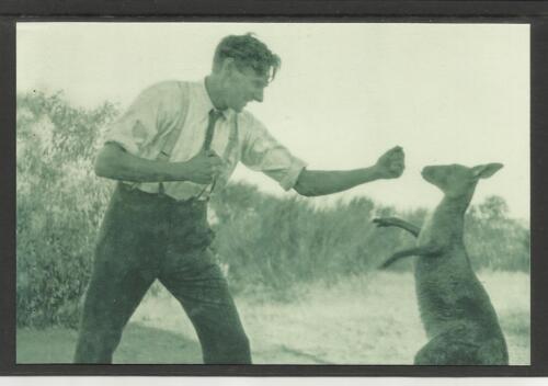 AUSTRALIA 2004 BOXING KANGAROO POSTCARD - Bill Boyd & Kanga Joe in 1923