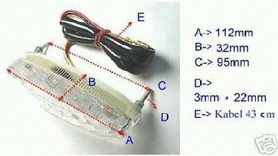 Mini LED Rücklicht mit Kennzeichenbeleuchtung