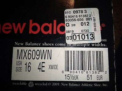 New Balance MX609WN Shoes Size 16 4E