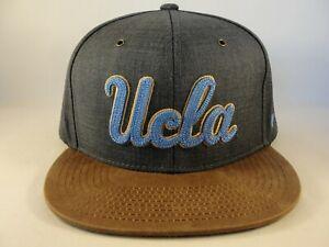 UCLA-Bruins-NCAA-Zephyr-Snapback-Hat-Cap-Gray-Brown