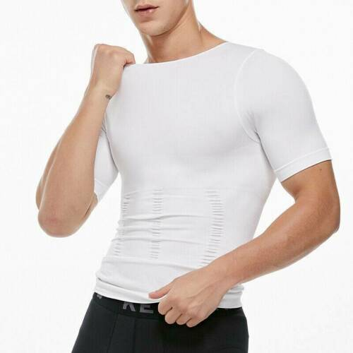 Men/'s Chest Compression T-Shirt Hide Gynecomastia Body Shaper Abdomen Slim Vest