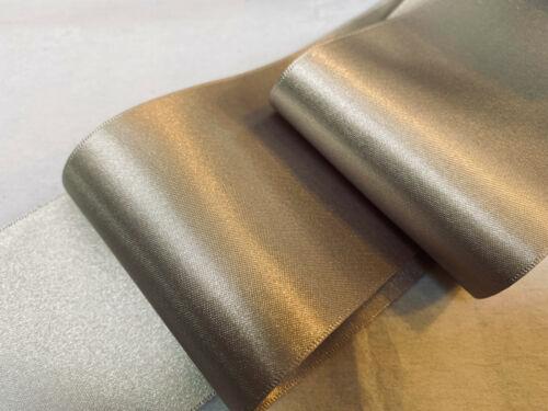 Berisfords Shade 18 Silver Grey Double Satin Ribbon 3//7//10//15//25//35//50mm Widths