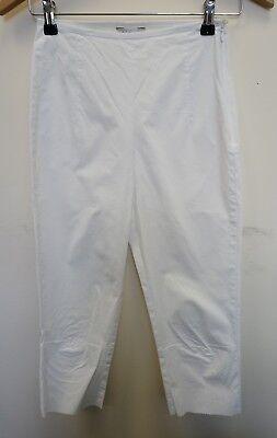 SorgfäLtig AusgewäHlte Materialien Damenmode Selbstlos Ladies Biasa Trousers Size L White Cropped <j8656 Hosen