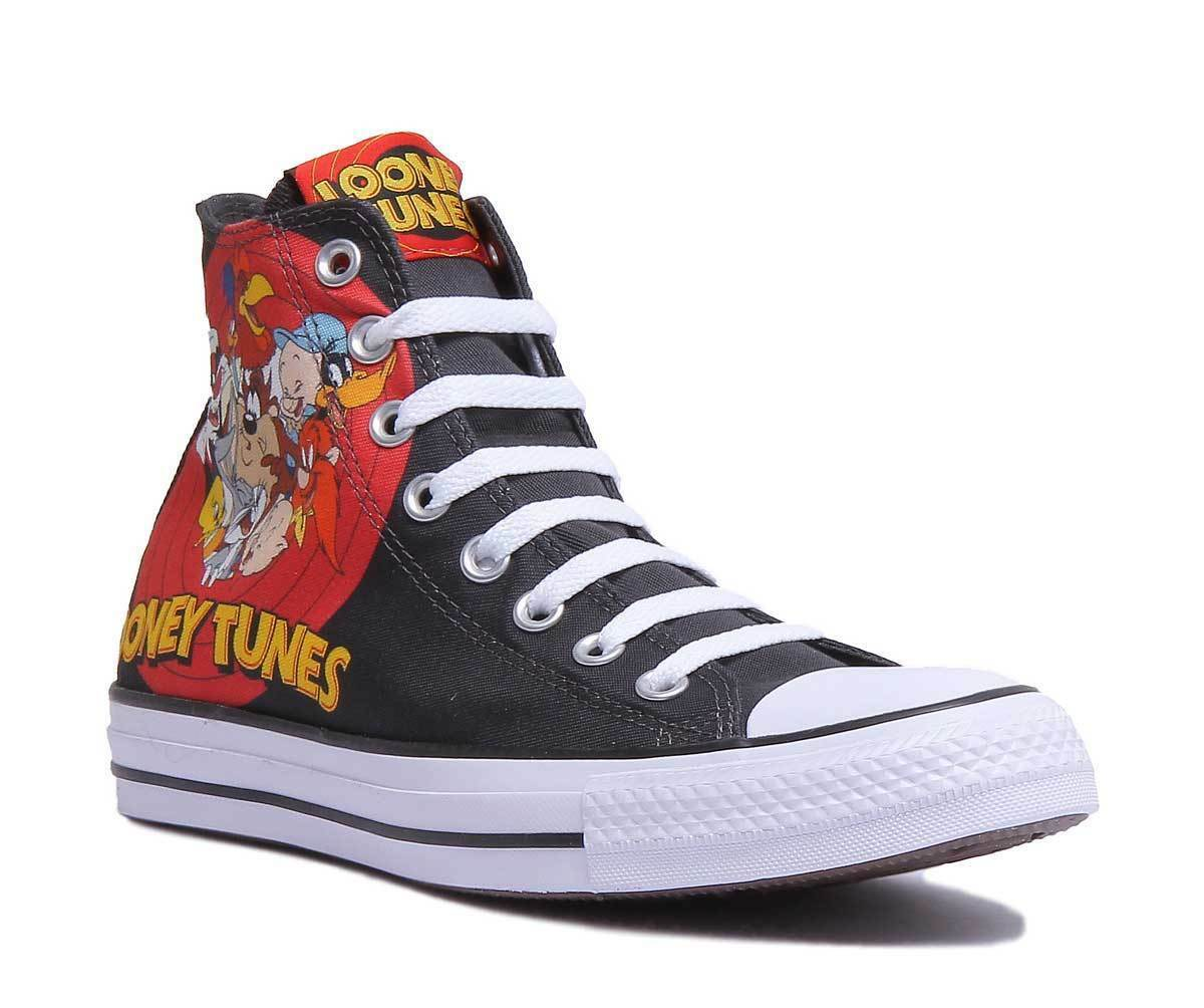 Converse CTR All Star Hi Looney Tunes Femmes Femmes Femmes Toile Noir Rouge Baskets 3 - 6.5 dac3e0