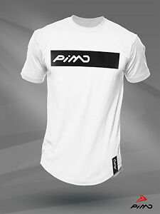 Fitness Workout Gym Muscle Bodybuilding S M L XL PIMD White LFT HRD T-Shirt