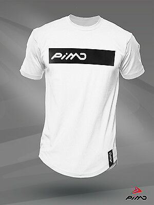 Pimd Deity White Tee - Fitness Workout Gym Muscle T-shirt Top Bodybuilding Mens
