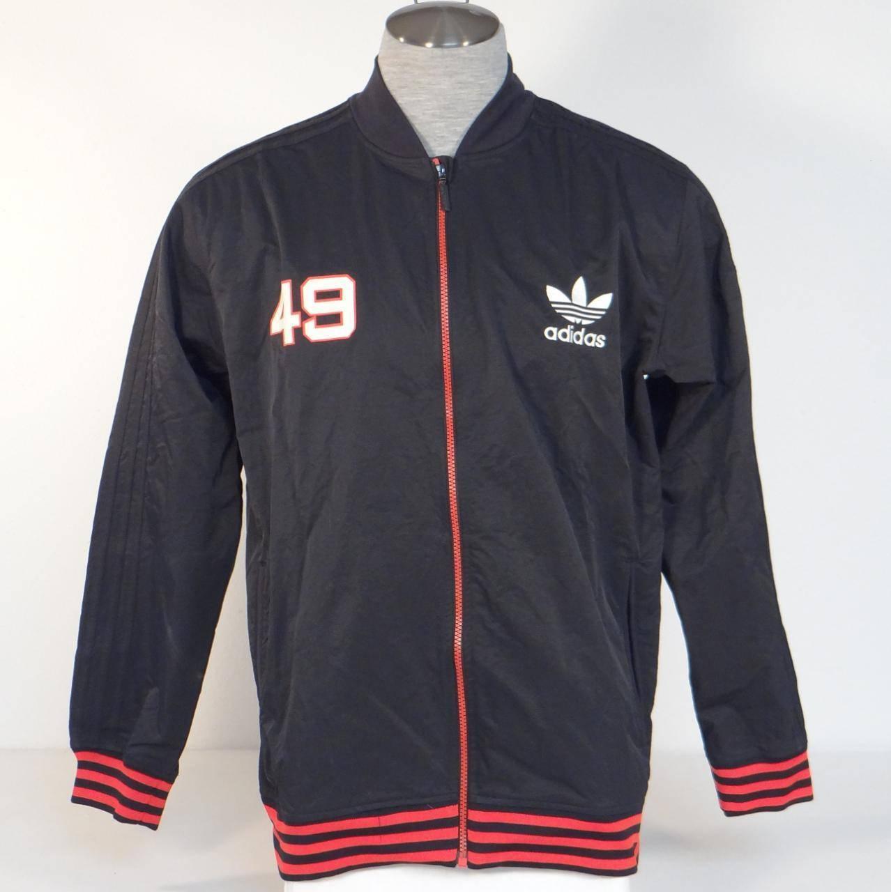 Adidas Trefoil Aláírás Akadémia Crest Fekete Nylon Póló Mellény NWT