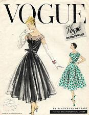 1950's VTG VOGUE Couturier Design Dress Simonetta of Italy Pattern 922 14 UNCUT