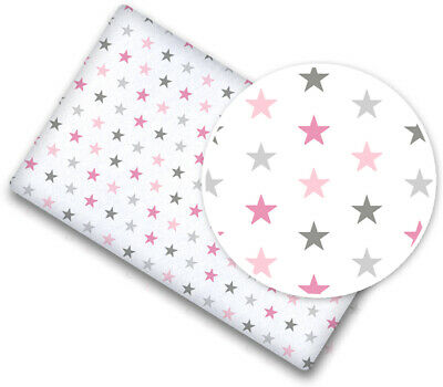100/% COTTON FITTED SHEET WITH PRINTED DESIGN FOR BABY COT 120x60CM Safari pink