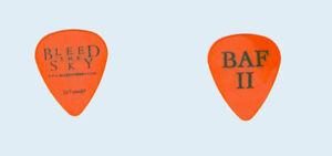 Bleed-The-Sky-tour-BAF-II-Black-on-orange-metalcore-metal-band-logo-Guitar-Pick