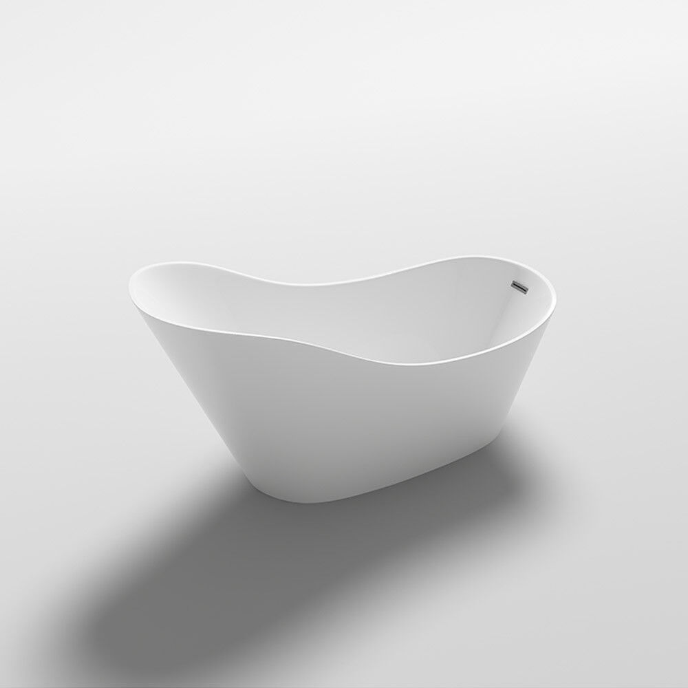 HOME DELUXE Freistehende Badewanne Acrylwanne Wanne Dusche Bad Ablauf