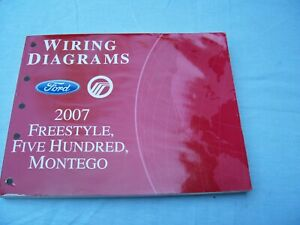 2007 FORD FREESTYLE, FIVE HUNDRED, MERCURY MONTEGO WIRING ...