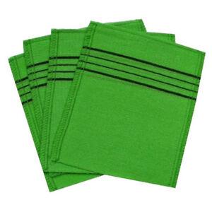 Korean-Italy-Towel-Serviettes-Exfoliating-Bath-Washcloth-4-Pcs-Green-by-Happy