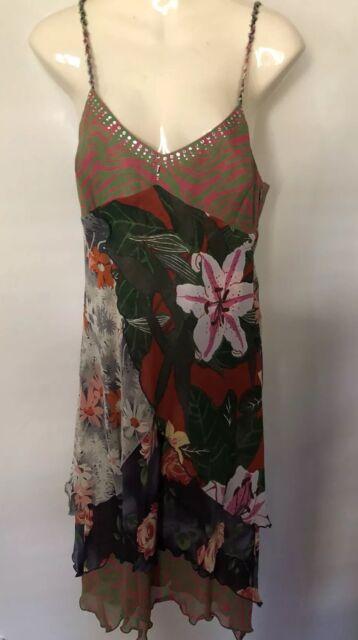 Beautiful LISA HO Silk Georgette Strappy Silk Dress in size 12
