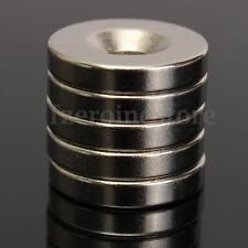 5 Piezas Anillo Imán De Neodimio 15 x 3 mm Con Agujero 4mm N50 Potentes Tremendo