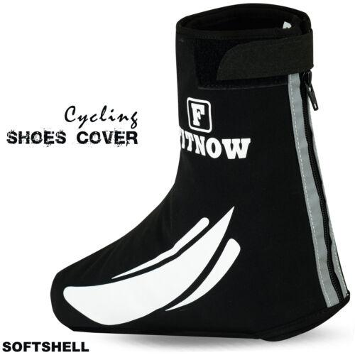 Cycling Shoe Cover Waterproof Windproof Outdoor Bicycle Overshoe Softshell Black