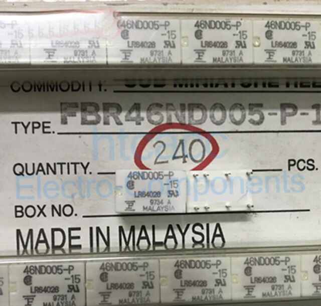 FBR46ND005-P-15 46ND005-P Low Signal Relay 1A 5VAC 8 Pins x 10pcs