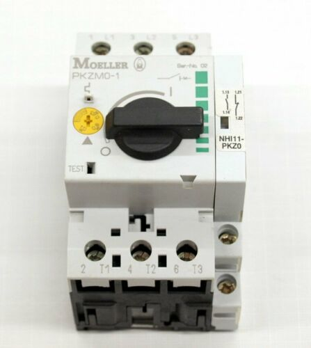 Moeller motor disyuntor pkzm 0-1//nhi11 0,63-1a