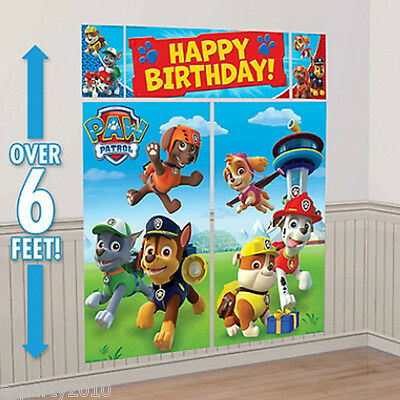 PAW PATROL WALL POSTER DECORATING KIT ~ Birthday Party Supplies Decorations