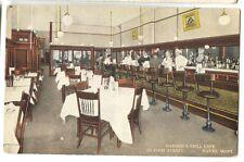 1910-20 era Grill Cafe Hanson's Havre Montana Postcard