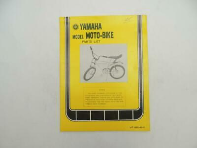 Vintage 1974 Yamaha Model Moto-Bike Parts List B7621