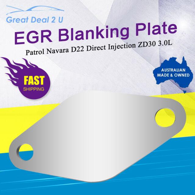 EGR Blanking Plate fits Nissan D22 Navara Patrol 3.0L ZD30Direct Injection Eng