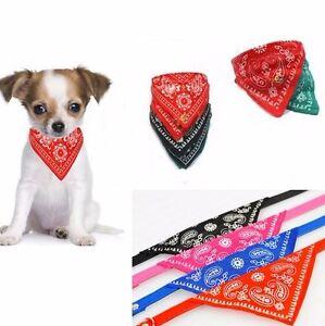 Halsband-Hund-Katze-Bandana-Tuch-Groesse-M-Lederimitathalsband-Hundehalsband