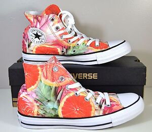 NIB UNISEX CONVERSE CHUCK TAYLOR HI TOP ORANGE GREEN SNEAKERS SHOES MULT SIZES