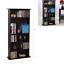 adjustable 5-shelf wood bookcase storage shelving media dvd bookshelf furniture