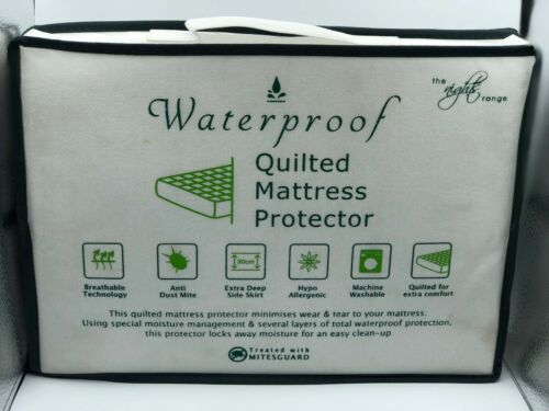 QUILTED /& WATERPROOF PROTECTOR EXTRA DEEP MATTRESS COVER ALL SIZES AVAILABLE