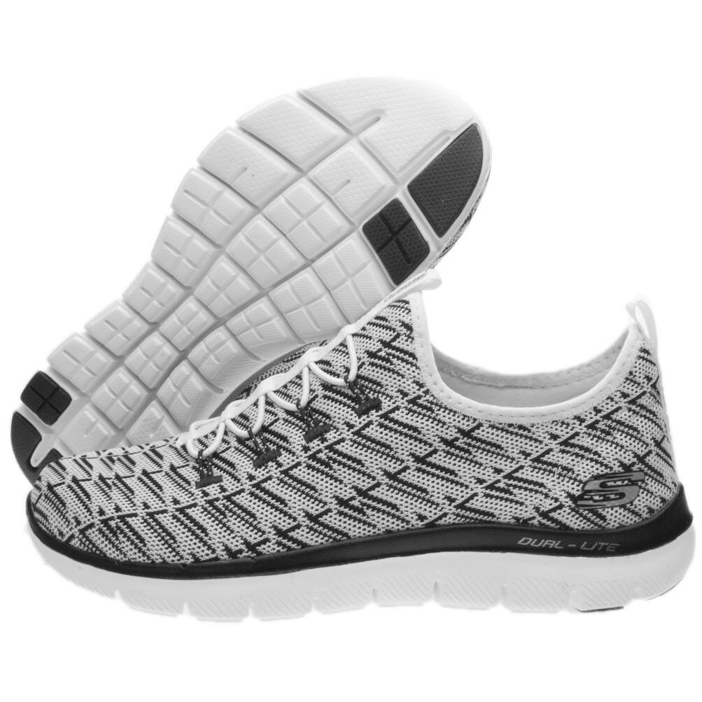 shoes Skechers Flex Appeal 2.0 Insights Size 4 Code 12765-WBK -9W