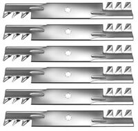 Set Of 6 John Deere 48 Gator Style Mulching Mower Blades Gy20852 Free Shipping