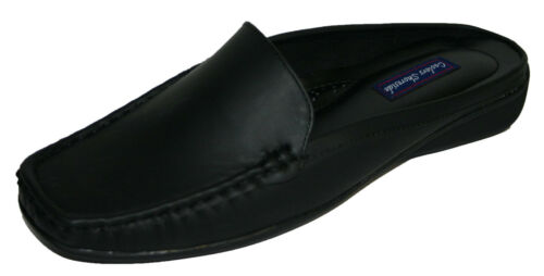 Femmes Shoreside Faux Nubuck Cuir Slip On Mule Mocassin Chaussures Tailles 4-8